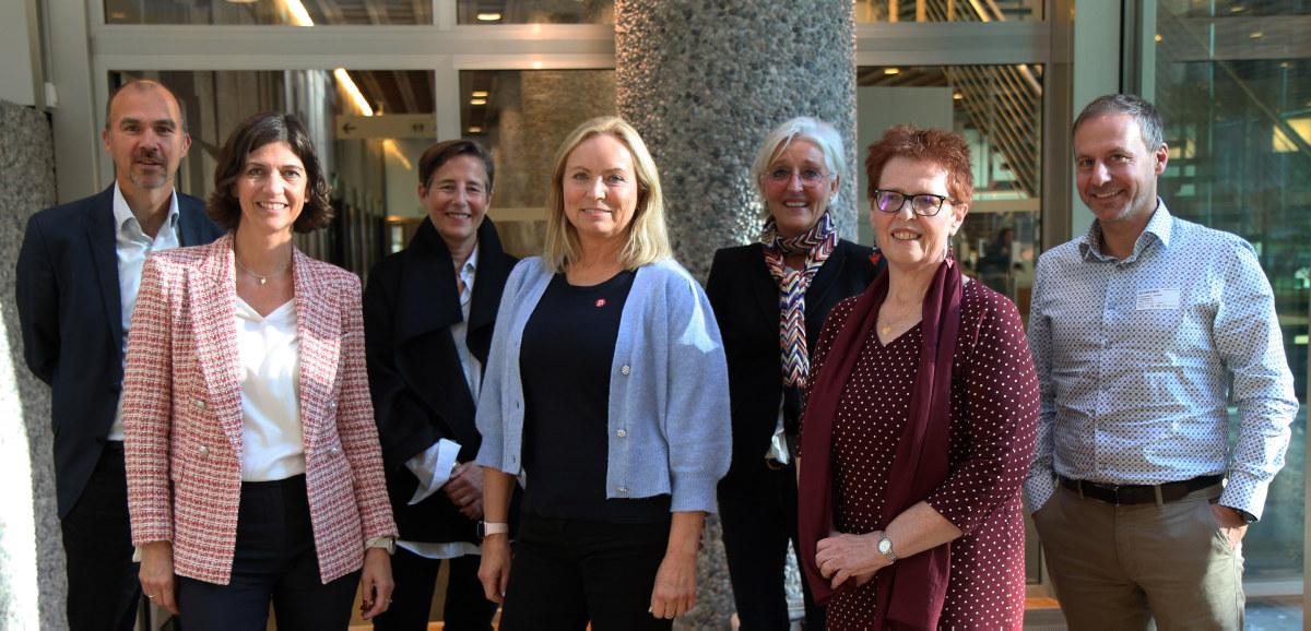 Helse- og velferdsstyret, høst 2021. Fra venstre: Tor Brekke (Hero), Ingvild Kristiansen (Stendi), Trine Bakkeli (Aberia), Mona Vangsnes Lien (lHumana omsorg og assistanse), Lillanna Engzelius (Godthaab helse og rehabilitering), Trude Wester (Helsepartner Nord-Norge) og Richard Skaar (Skaar omsorg).